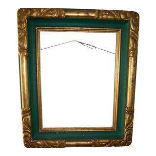 Vintage Hand Made Carved and Painted Wooden Frame