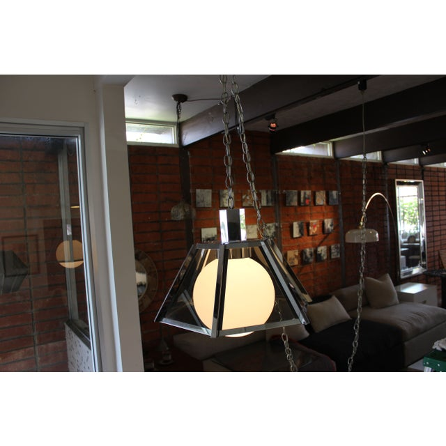 Vintage Fredrick Ramond Chandelier Chrome - Image 5 of 7