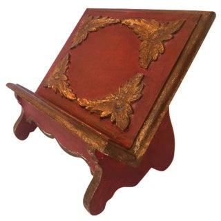 Vintage Italian Florentine Book Stand