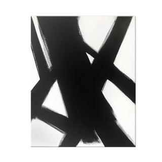 """Black & White Slash No. 4"" Original Painting"