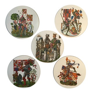 English Knights Circular Placemats - Set of 5
