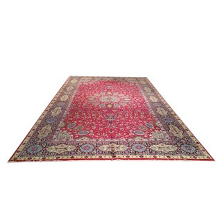 Persian Tabriz Hand Knotted Rug - 10′ × 16′7″