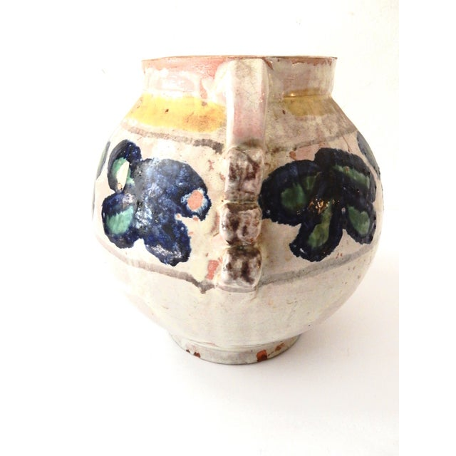 Painted Mexican Pottery Vase - Image 4 of 9