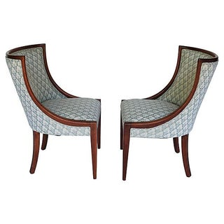 Upholstered Accent Chairs - Pair
