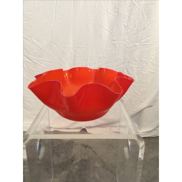 Mid-Century Modern Venini Style Handkerchief Bowl - Image 2 of 3