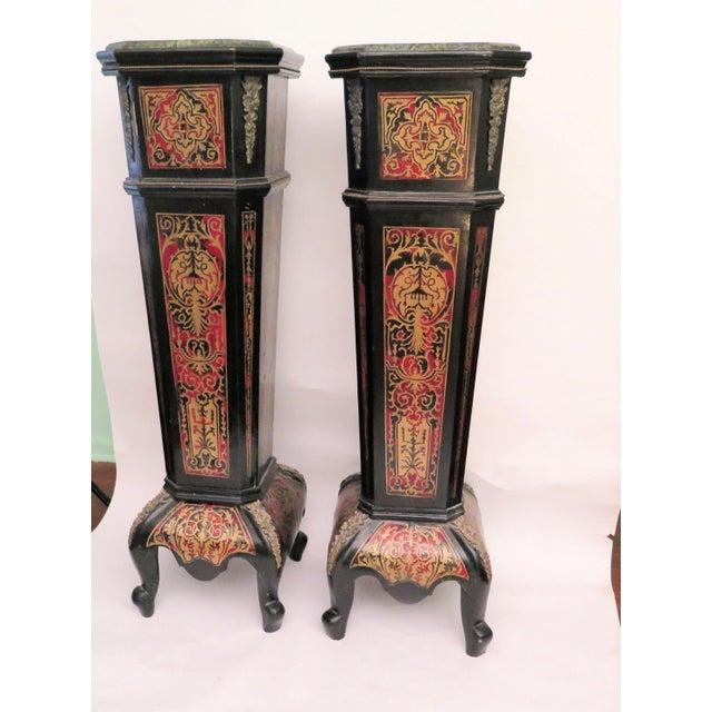 Antique Boulle Pedestals - a Pair - Image 2 of 6
