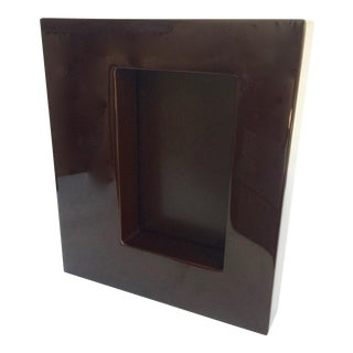 Jonathan Adler Dark Umber Lacquer Photo Frame
