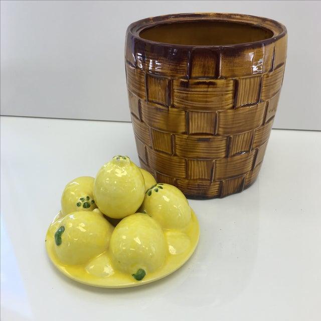 Image of Lemon Basket Cookie Jar