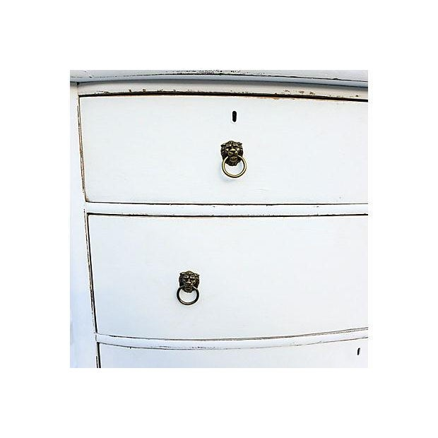 Antique Distressed White Painted Oak Dresser - Image 5 of 6