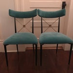 Image of Jonathan Adler Rider Dining Chairs- A Pair