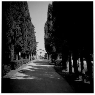 """Tuscan Church"" Black & White Vintage Film Camera Photograph"