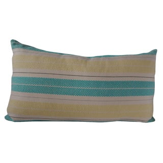 Custom Striped Lumbar Pillow