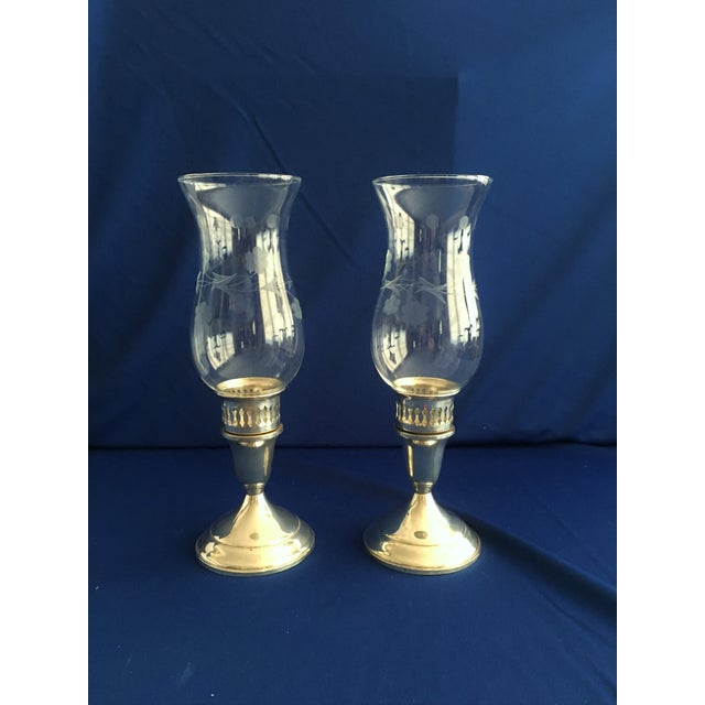 Towle Sterling Silver Hurricane Lamps - A Pair - Image 2 of 9