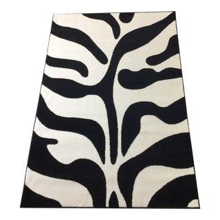 "Black and White Zebra Rug - 5'3"" x 7'7"""