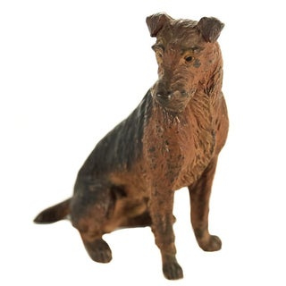 Austrian Bronze English Terrier Figurine