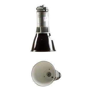Vintage Industrial Pendant Lamp in Black & Gray