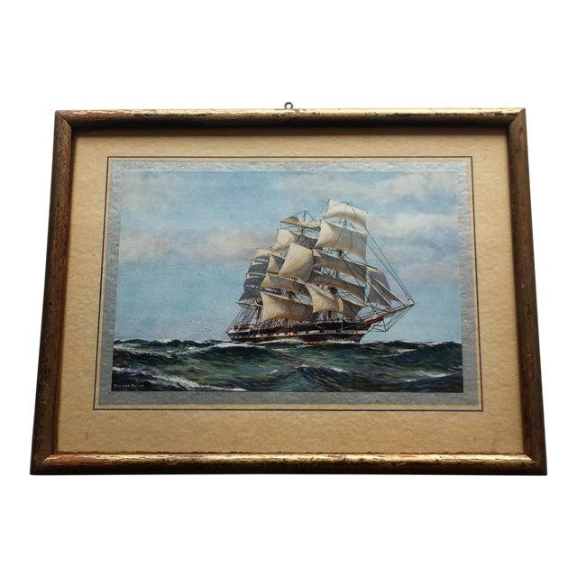 Framed Ship Print - Image 1 of 7