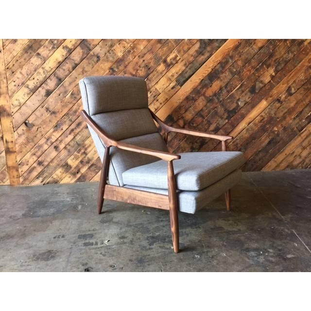 Custom Danish Mid-Century Style Lounge Chair - Image 2 of 5