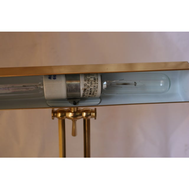 Image of Mid-Century Brass Industrial Bankers Lamp