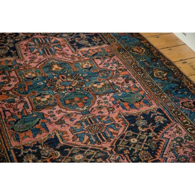 "Image of Vintage Blue & Pink Hamadan Rug - 4' x 5'10"""