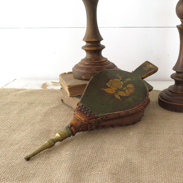 Antique Fireplace Bellows - Image 4 of 10