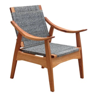 Handwoven Granito and Royal Mahogany Izapa Arm Chair