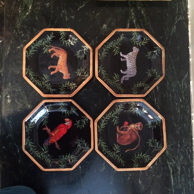 Decorative Decoupage Plates - Set of Four - Image 3 of 9