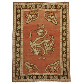 RugsinDallas Vintage Hand Woven Wool Turkish Kilim Rug - 7′8″ × 10′6″
