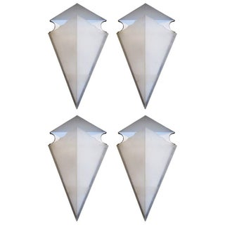 Triangular Resin Sconces - Set of Four