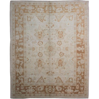 "Hand Knotted Oushak Rug - 10'0"" X 8'4"""
