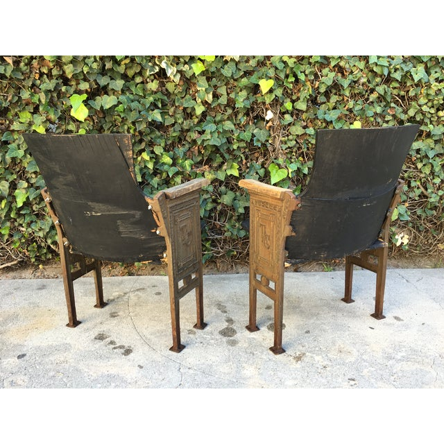 Black & Gold Theatre Chairs - A Pair - Image 5 of 6