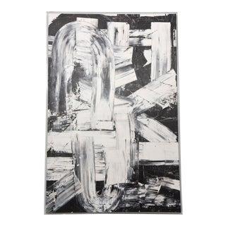 Renato Freitas Original Oil on Canvas, 2015, Black and White Two