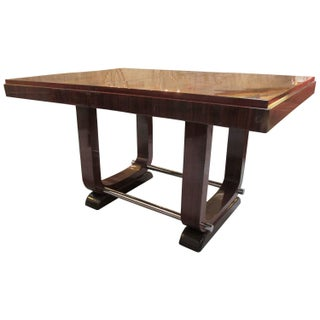 1920s French Art Deco Macassar Dining Table