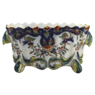 19th Century French Desvres Jardinière