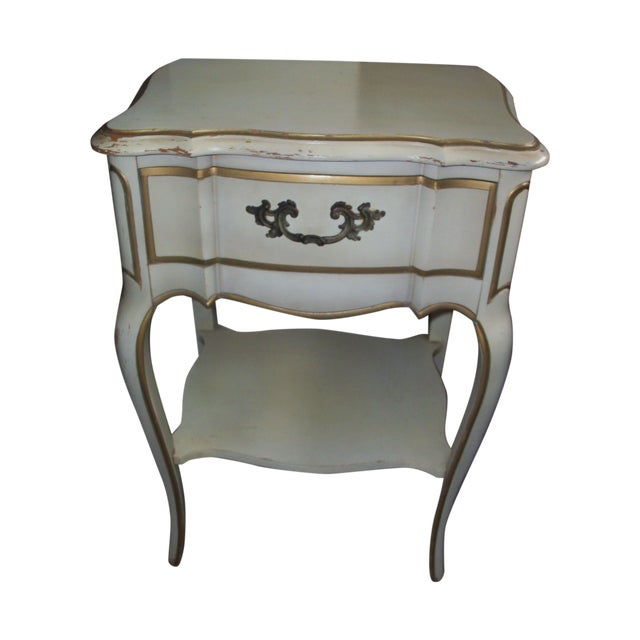French Provincial Style Night Stand Table - Image 1 of 7