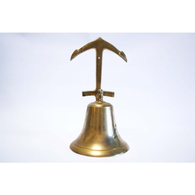 Nautical Brass Anchor Ship Bell - Image 2 of 7
