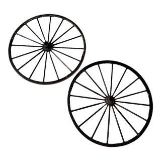 Antique Wagon Wheel - a Pair