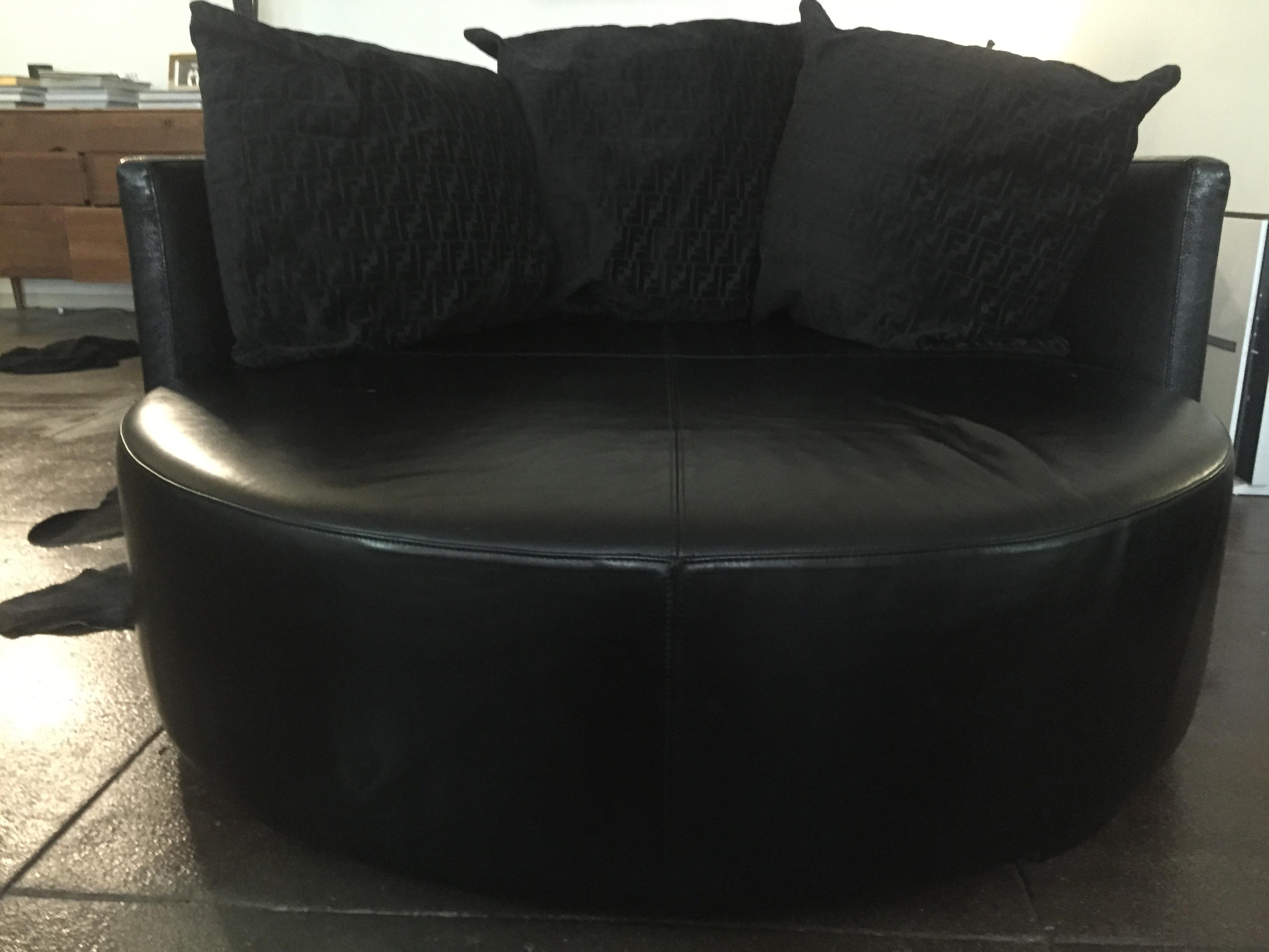 Fendi Casa Black Stingray Leather Circular Sofa   Image 2 Of 6