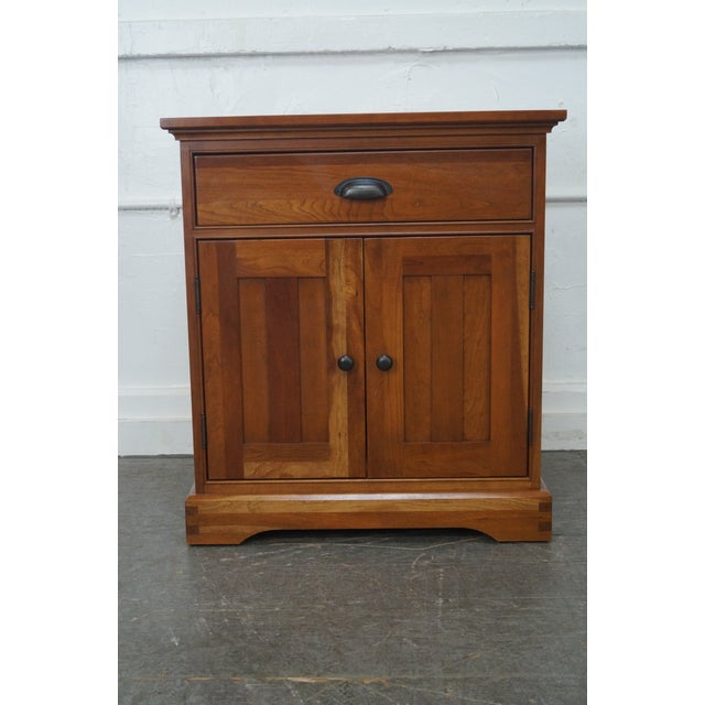 Michaels Furniture Traditional Solid Cherry Nightstands - A Pair - Image 6 of 10