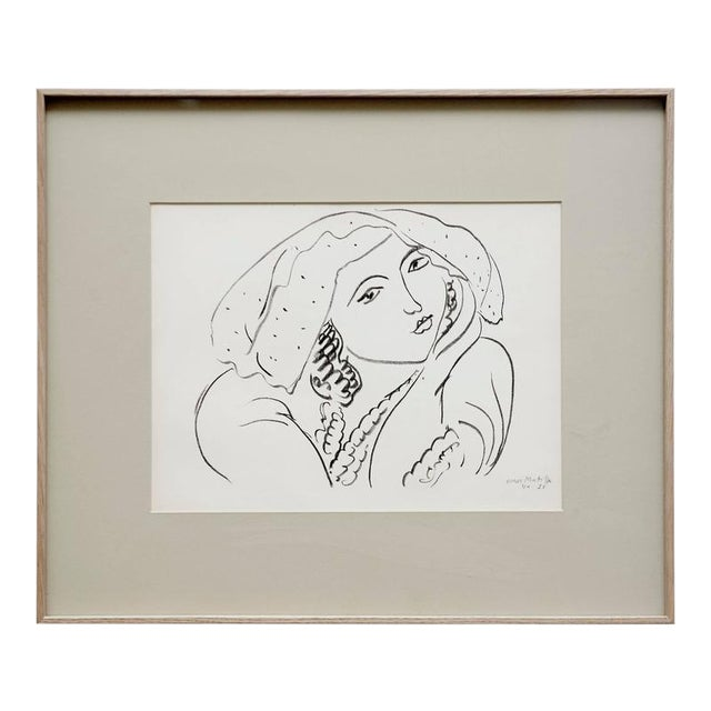 Lithograph after Original Matisse Drawing, 1942 - Image 1 of 5