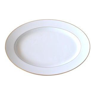 Gold & White Serving Platter