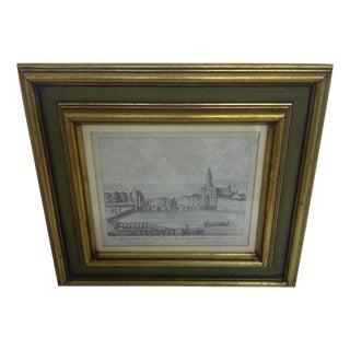 """""""Amsterdam View,"""" Port of Haarlem Engraving/Print"""