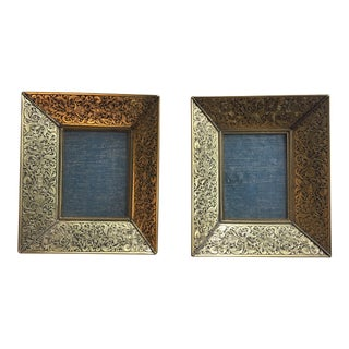 Vintage Small Ornate Gold Photo Frames - A Pair