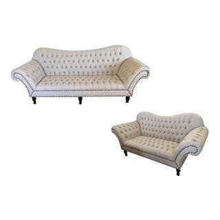 Beige 3-Seater Sofa & Loveseat Set