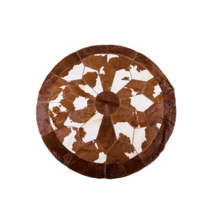 "Cowhide Patchwork Area Rug - 7'1"" x 7'1"""