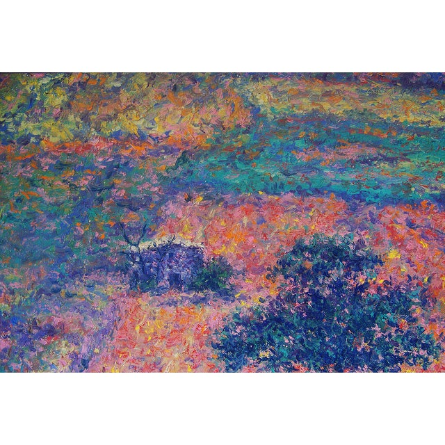 Image of Finnish Impressionist Parkkinen Landscape Painting