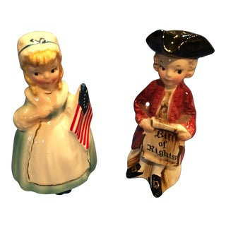 Revolutionary Figures Salt & Pepper Shakers - A Pair