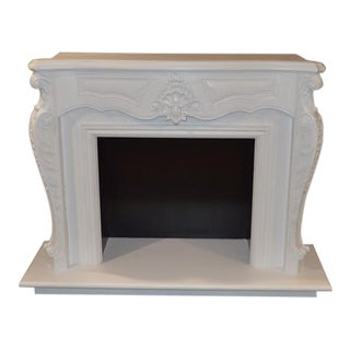 Unique Ornate Carved European Style Fireplace Surround
