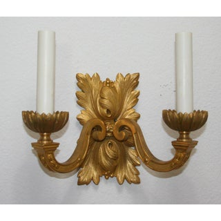 Gilt Bronze Louis XVI Style Sconces - A Pair