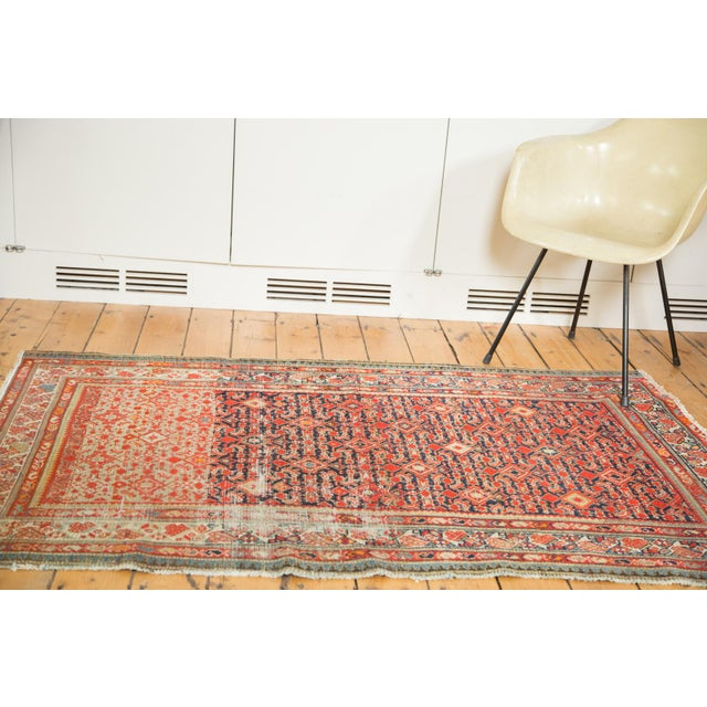 """Distressed Antique Malayer Rug - 4'1"""" X 6' - Image 2 of 8"""